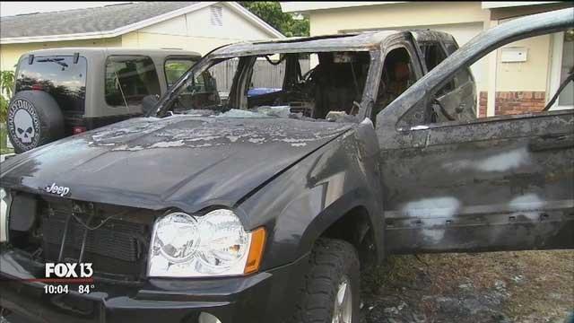 گلکسی نوت سامسونگ خودروی جیپ یک مرد آمریکایی را سوزاند!